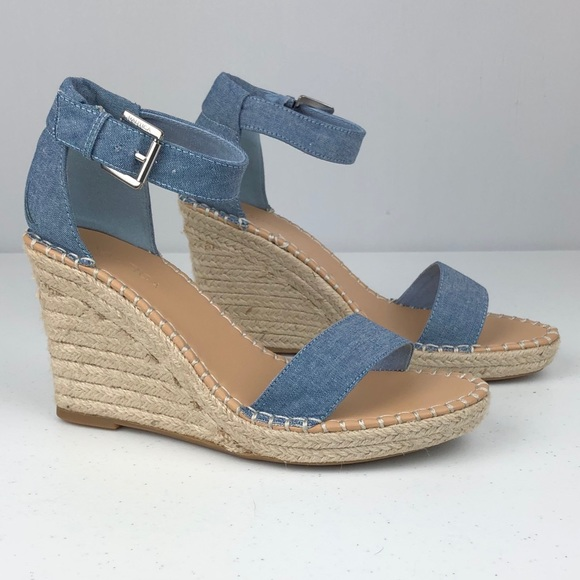 e376a74a056 NWOT Nautica chambray wedge espadrille sandals 8